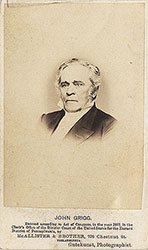 Portrait of John Grigg