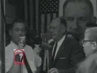 Thumbnail for WSB-TV newsfilm clip of Georgia governor Ernest Vandiver speaking to reporters about the civil rights movement in Albany, Georgia from a press conference in Atlanta, Georgia, 1962 July 30