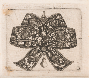 """""""Pendant in the Form of a Bowknot,"""" Plate 3 from """"Goldsmith Ornament Designs"""""""