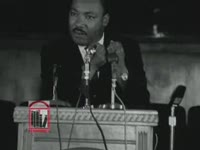 WSB-TV newsfilm clip of Dr. Martin Luther King, Jr. speaking about the Summer Community Organization and Political Education (SCOPE) project, Atlanta, Georgia, 1965 June