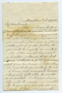 Letter from B. S. Greenwell to Louisa Gass