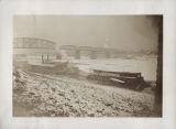 Steamboats in frozen Ohio River, Cincinnati, Ohio