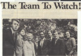 Newspaper clipping, Advertisement for the KLAS-TV News Team, The Team to Watch, publication unknown, circa 1975