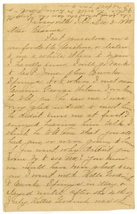 [Letter from Julia A. Barr to the Moore family, December 3, 1888] Charles B. Moore Family papers, 1832-1917