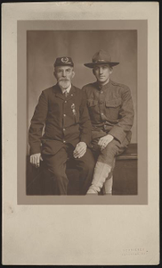 [Unidentified Civil War veteran and unidentified World War I soldier]