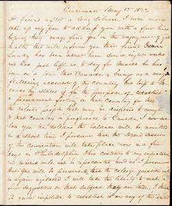 Letter from George Cary, Cincinnati, [Ohio], to William Lloyd Garrison, 1832 May 15