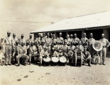 Photograph of African-American military band, circa 1943