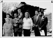 City officials join citizens at the site of the demolition of dilapidated housing in Cabbagetown, December 21, 1988