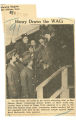 Henry draws the WACs; Morning Register (Des Moines, Iowa); Women's military activity