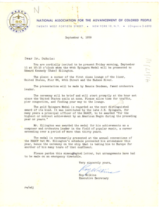 Letter from National Association for the Advancement of Colored People to W. E. B. Du Bois