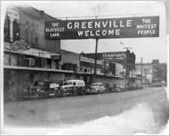 Greenville, Texas, welcome sign