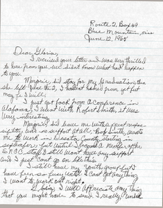 Letter from Charleane Hill to Gloria Xifaras Clark