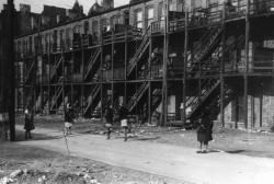 Apartment building in African-American section of Chicago