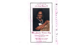 In loving memory of Mrs. Juanita Victoria Seay, service to be held Saturday, March 15, 2008, 11:00 a.m., service, Clinton Chapel A.M.E. Zion Church, 3401 23rd Street - Detroit, Michigan, rev. Ronald Bailey, officiating