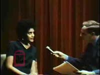 WSB-TV newsfilm clip of Charlayne Hunter speaking to reporter Dave Sisson about a visit to the University of Georgia and her feelings on African American students at the school, Athens, Georgia, 1969 November 21