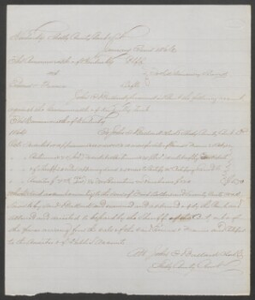 Documents relating to the sale of two runaway slaves, Emma and Francis, belonging to Allen Butler of Crittenden County, Shelby County, Ky.