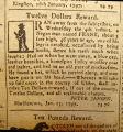 1797, Run away notice for Frank of Marbletown, N.Y.