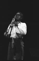 Jazz great Anthony Braxton plays at The University of Michigan for Eclipse Jazz,.Sept. 23, 1977