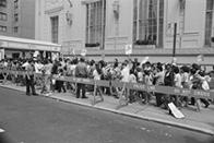 Strikers at the 1985 Puerto Rican Day Parade