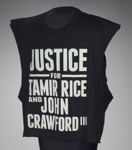 T-shirt for Tamir Rice and John Crawford worn by Andrew Hawkins