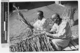 Retired farmers making chicken coops, Kosai, Korea, May 1940