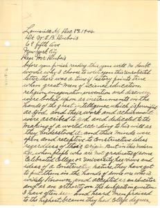 Letter from J. L. Brooks to W. E. B. Du Bois