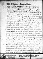 Thumbnail for Affidavit of Philip Joiner: Albany, Georgia, 1868 Sept. 23