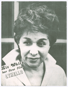Promotional material for Liz White's presentation of Othello