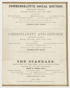 1870 Commemorative Social Reunion and Meeting of the American Anti-Slavery Society