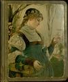 Trade card scrapbook, [1883].