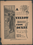 """""""A Little Yellow Rose for Dixie-Land"""" Sheet Music"""