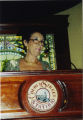 Julie Belafonte at a podium