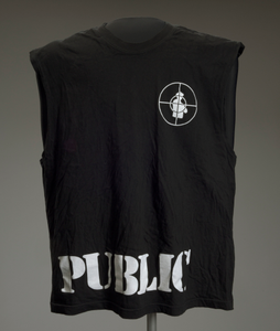 Sleeveless T-shirt with Pubilc Enemy logo