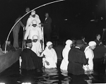 Annual Baptism by Elder Michaux & Church of God--at the Griffith Stadium [photoprint], ca. 1930-1950