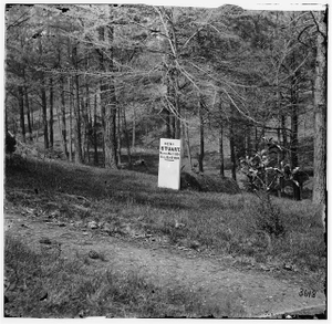[Richmond, Va. Grave of Gen. J.E.B. Stuart in Hollywood Cemetery, with temporary marker]