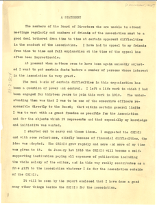 Statement by W. E. B. Du Bois