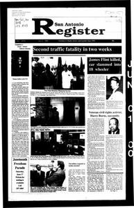 San Antonio Register (San Antonio, Tex.), Vol. 68, No. 50, Ed. 1 Thursday, June 1, 2000 San Antonio Register