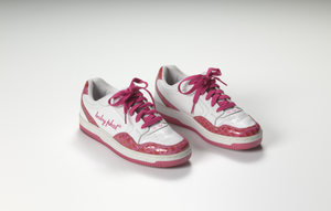 White and pink MC Lyte Baby Phat sneakers