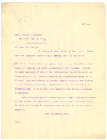 Letter from W. E. B. Du Bois to Rev. Sutton E. Griggs