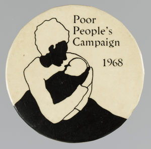 Pinback button for the Poor People's Campaign