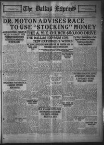 The Dallas Express (Dallas, Tex.), Vol. 31, No. 39, Ed. 1 Saturday, August 23, 1924 The Dallas Express