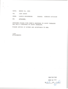 Letter from Mark H. McCormack to Scott Thomas