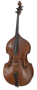 Upright acoustic double bass owned by Stanley Clarke