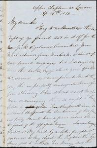 Letter from Isabella Massie, Upper Clapton, [England], to John Bishop Estlin, 1850 April 16