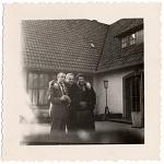 [Flip Phillips(?), Norman Granz, and Ella Fitzgerald, undated. [Black-and-white photoprint]