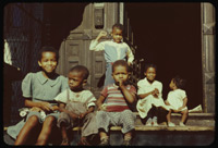 Negro children at 39 Ellis Ave.Chicago