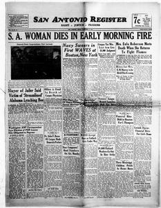 San Antonio Register (San Antonio, Tex.), Vol. 14, No. 42, Ed. 1 Friday, November 17, 1944 San Antonio Register