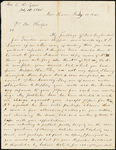 Letter from Edward Royall Tyler to Amos Augustus Phelps, 1845 July 18