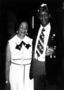 Mary Bradley Hamilton and her son Charles Bradley, American Legion commander
