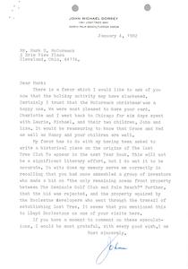 Letter from John Michael Dorsey to Mark H. McCormack